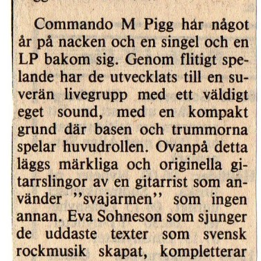 Commando M. Pigg - Decenniet 1980-90